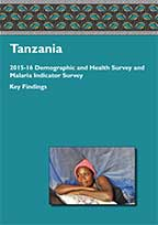 Cover of Tanzania DHS, 2015-16 - Key Findings (English)