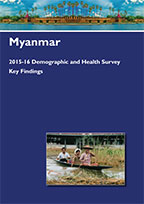 Cover of Myanmar DHS, 2015-16 - Key Findings (English)