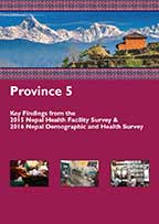 Cover of Nepal DHS, 2016 - Province 5 - Key Findings from the 2015 Nepal Health Facility Survey & 2016 Nepal Demographic and Health Survey (English)