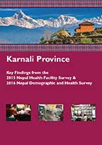 Cover of Nepal DHS, 2016 - Karnali Province - Key Findings from the 2015 Nepal Health Facility Survey & 2016 Nepal Demographic and Health Survey (English)
