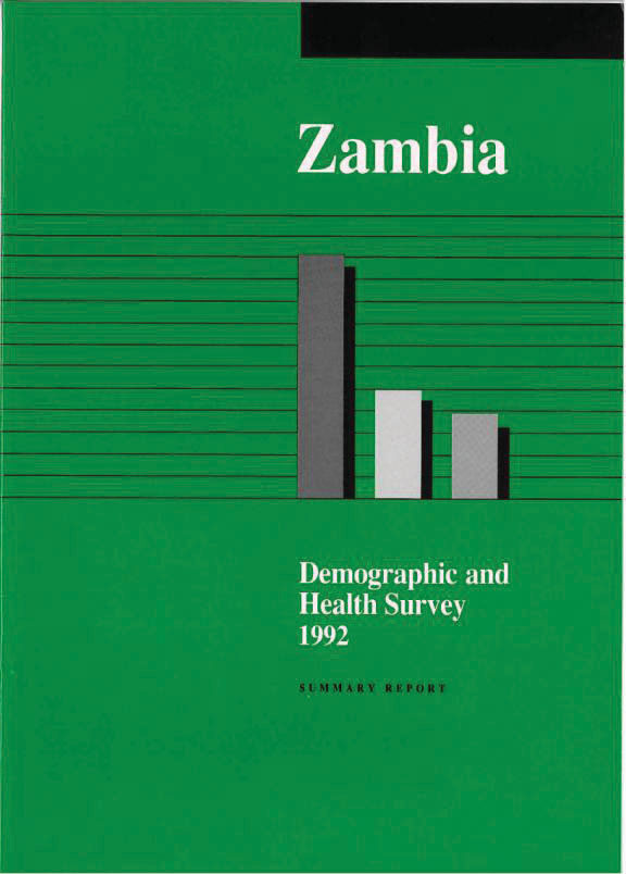 Cover of Zambia DHS, 1992 - Summary Report (English)