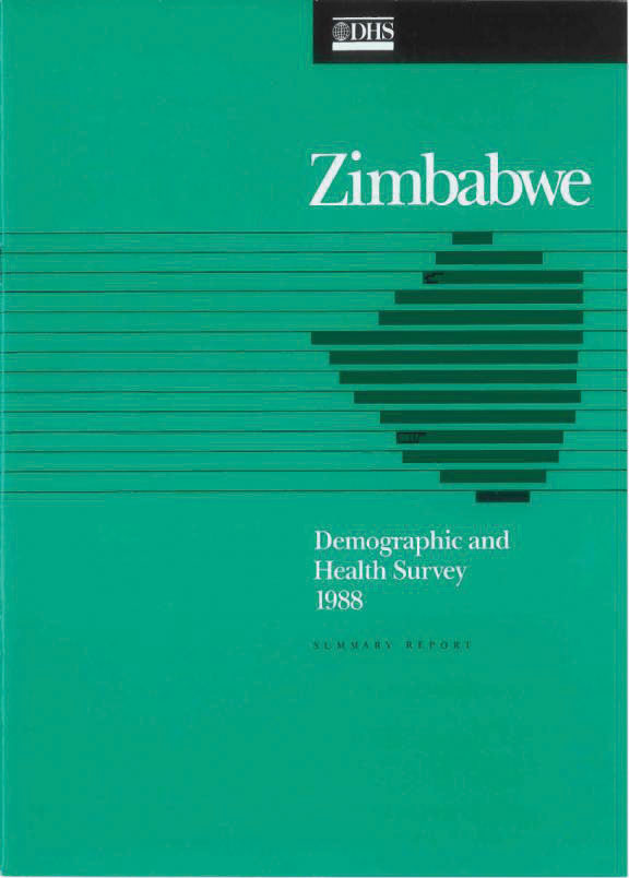Cover of Zimbabwe DHS, 1988 - Summary Report (English)