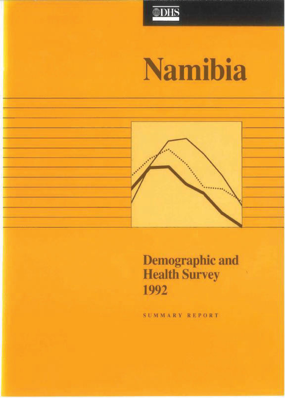 Cover of Namibia DHS, 1992 - Summary Report (English)
