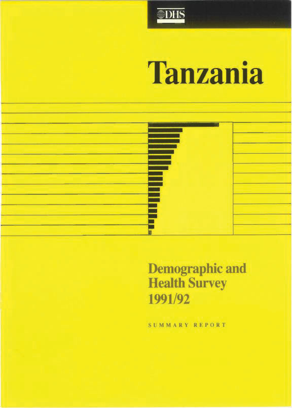Cover of Tanzania DHS, 1991-92 - Summary Report (English)