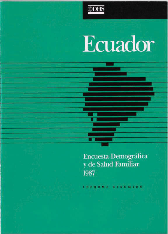 Cover of Ecuador DHS, 1987 - Summary Report (Spanish)