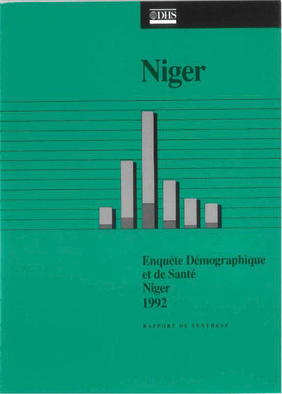 Cover of Niger DHS, 1992 - Summary Report (French)