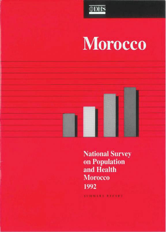Cover of Morocco DHS, 1992 - Summary Report (English, French)