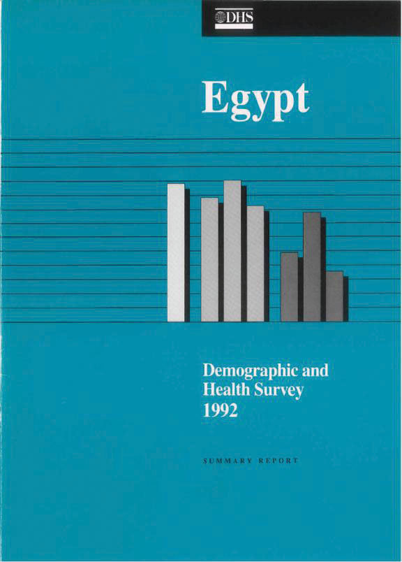 Cover of Egypt DHS, 1992 - Summary Report (English)