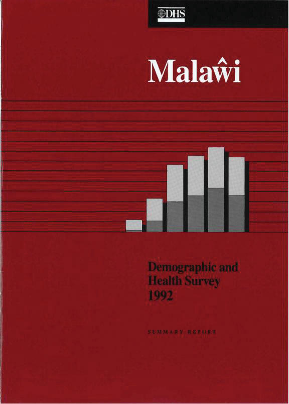 Cover of Malawi DHS, 1992 - Summary Report (English)