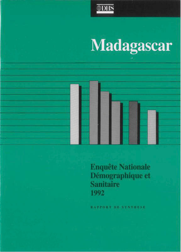 Cover of Madagascar DHS, 1992 - Summary Report (French)