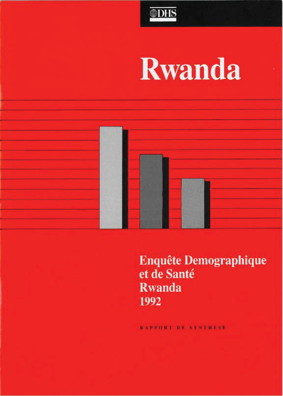 Cover of Rwanda DHS, 1992 - Summary Report (French)