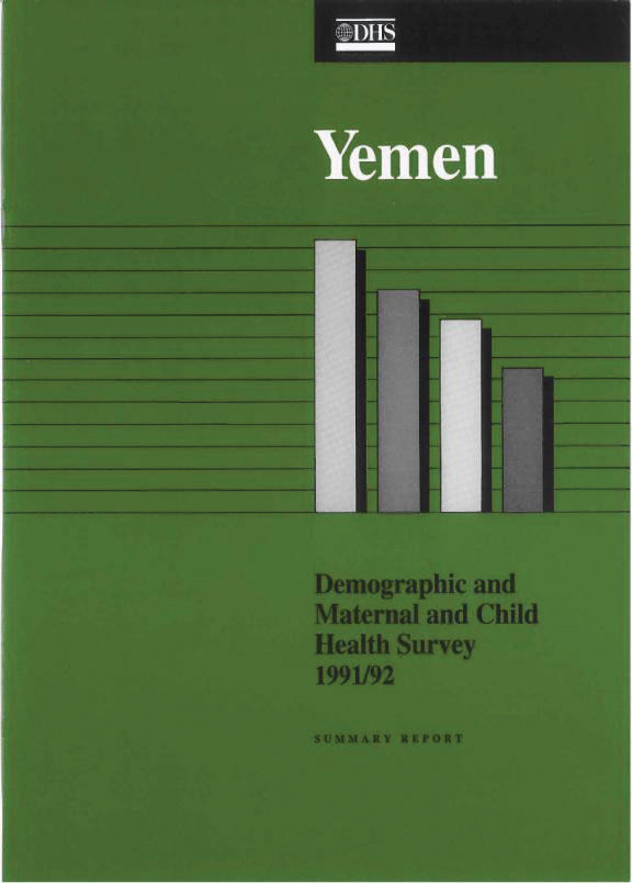 Cover of Yemen DHS, 1991-92 - Summary Report (English)