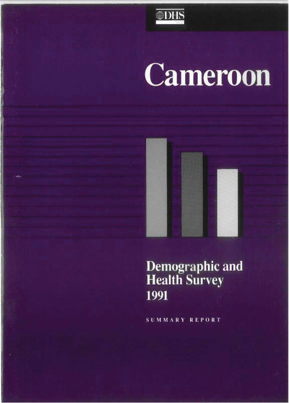 Cover of Cameroon DHS, 1991 - Summary Report (English, French)