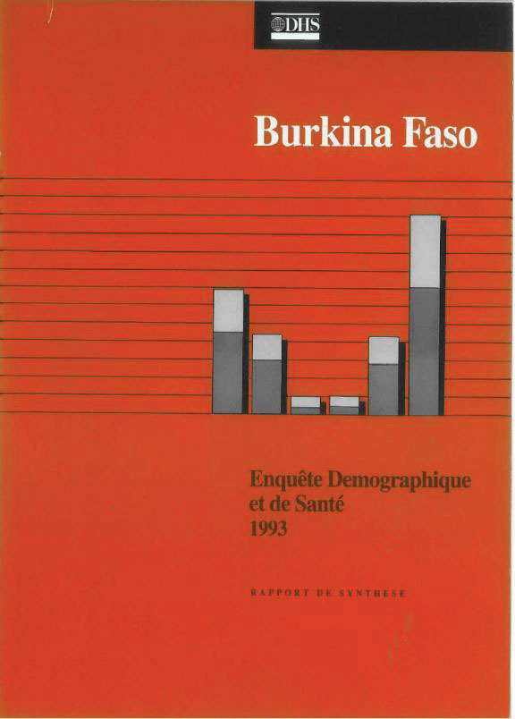 Cover of Burkina Faso DHS, 1993 - Summary Report (French)