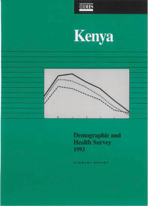 Cover of Kenya DHS, 1993 - Summary Report (English)