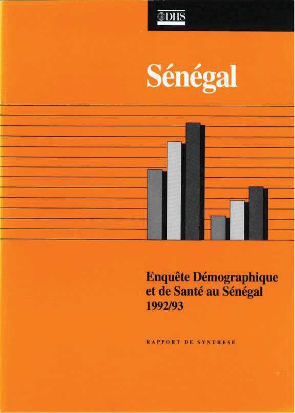 Cover of Senegal DHS, 1992-93 - Summary Report (French)
