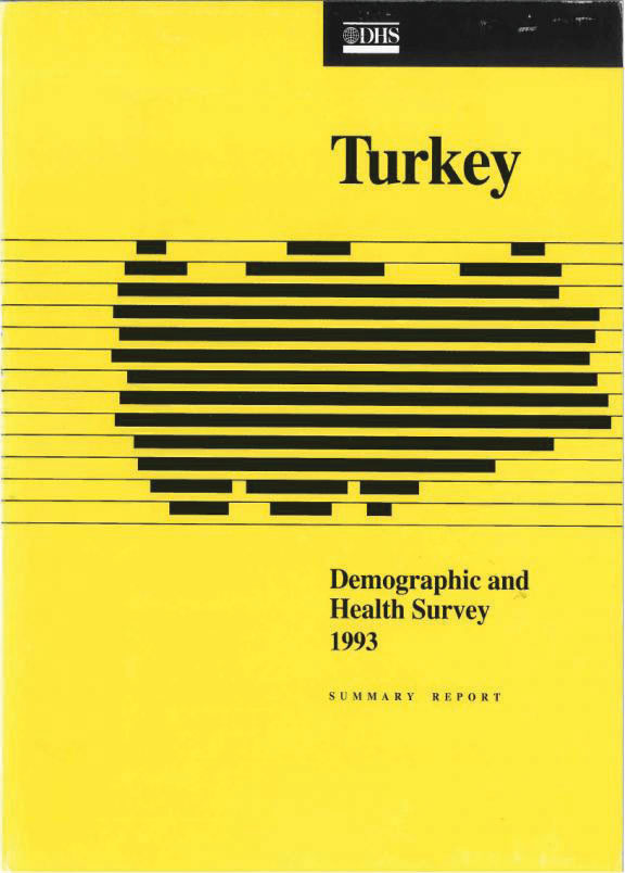 Cover of Turkey DHS, 1993 - Summary Report (English, Turkish)