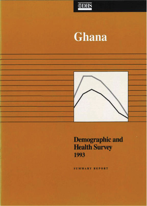 Cover of Ghana DHS, 1993 - Summary Report (English)