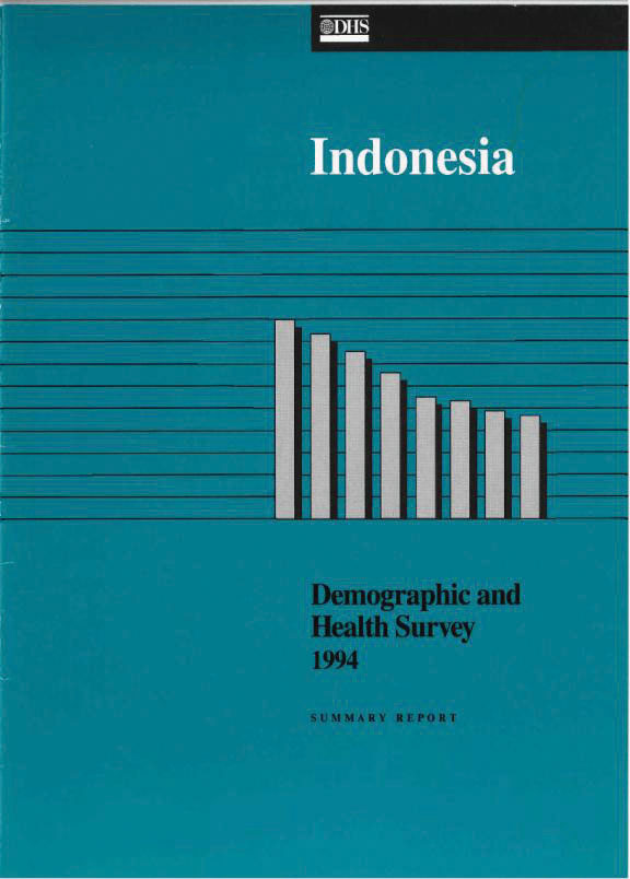 Cover of Indonesia DHS, 1994 - Summary Report (English)