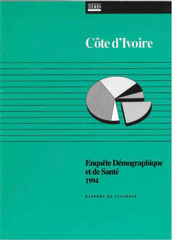 Cover of Cote d'Ivoire DHS, 1994 - Summary Report (French)