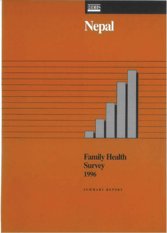 Cover of Nepal DHS, 1996 - Summary Report (English)