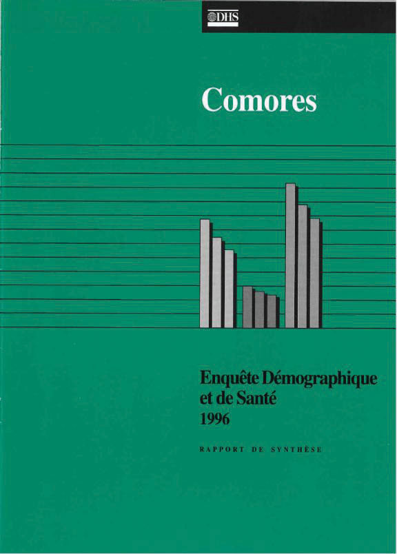 Cover of Comoros DHS, 1996 - Summary Report (French)