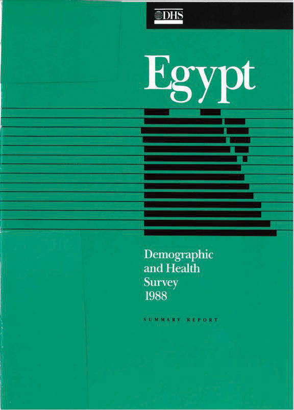 Cover of Egypt DHS, 1988 - Summary Report (English)