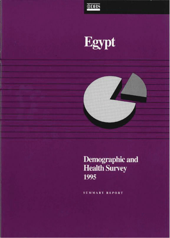Cover of Egypt DHS, 1995 - Summary Report (English)