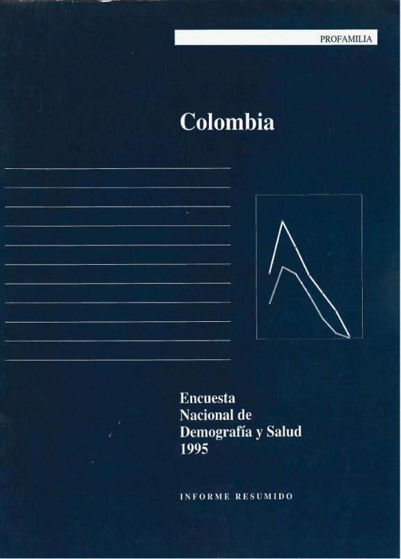 Cover of Colombia DHS, 1995 - Summary Report (Spanish)