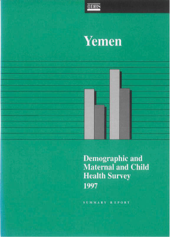 Cover of Yemen DHS, 1997 - Summary Report (English)