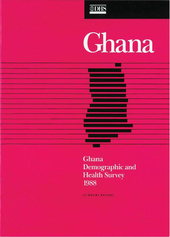 Cover of Ghana DHS, 1988 - Summary Report (English)