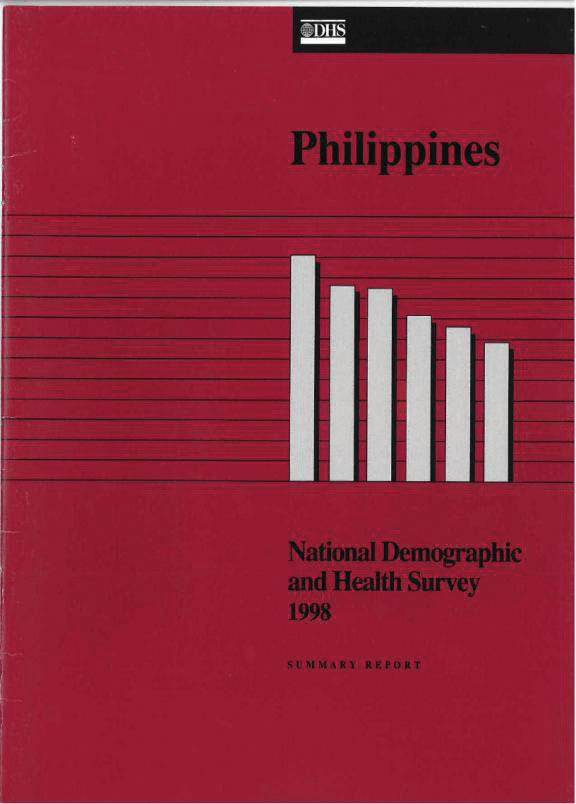 Cover of Philippines DHS, 1998 - Summary Report (English)