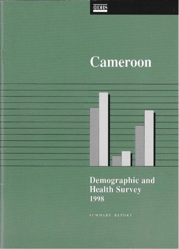 Cover of Cameroon DHS, 1998 - Summary Report (English, French)