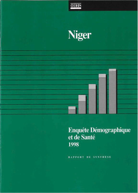 Cover of Niger DHS, 1998 - Summary Report (French)