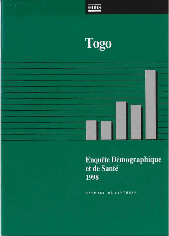 Cover of Togo DHS, 1998 - Summary Report (French)