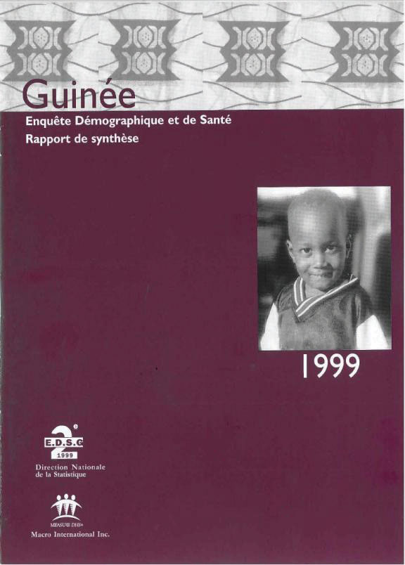 Cover of Guinea DHS, 1999 - Summary Report (French)