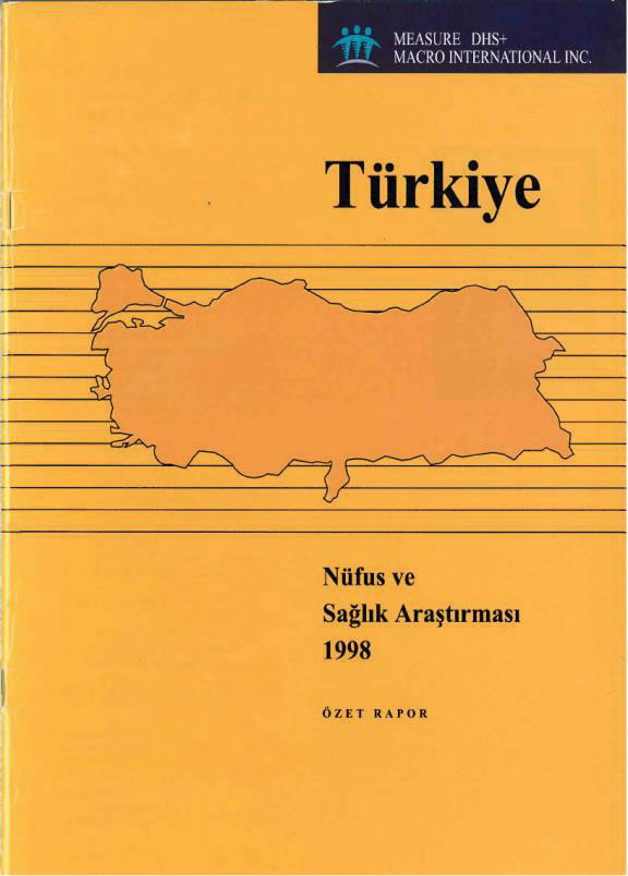 Cover of Turkey DHS, 1998 - Summary Report (English, Turkish)
