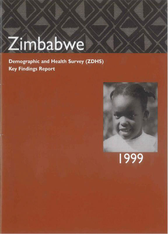 Cover of Zimbabwe DHS, 1999 - Summary Report (English)