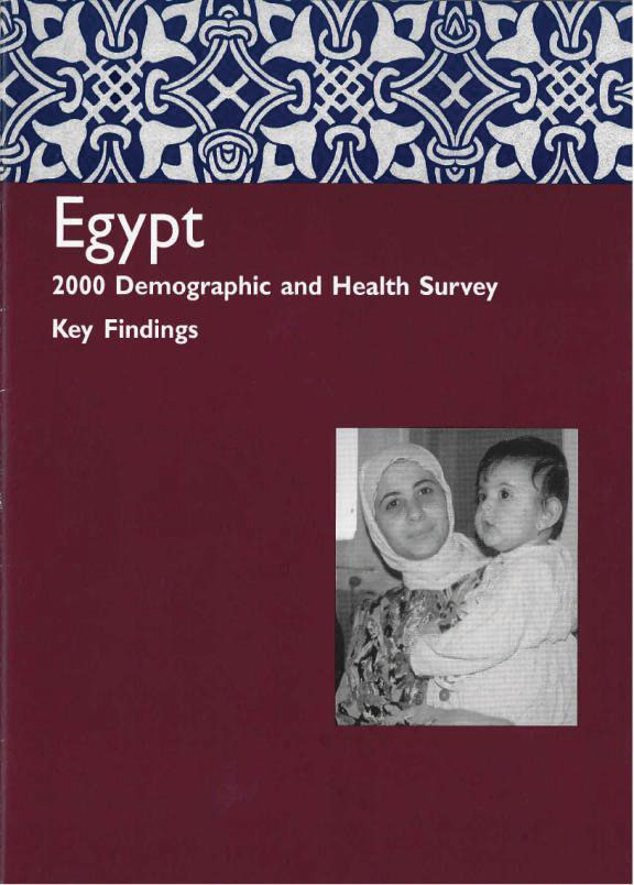Cover of Egypt DHS, 2000 - Summary Report (English)