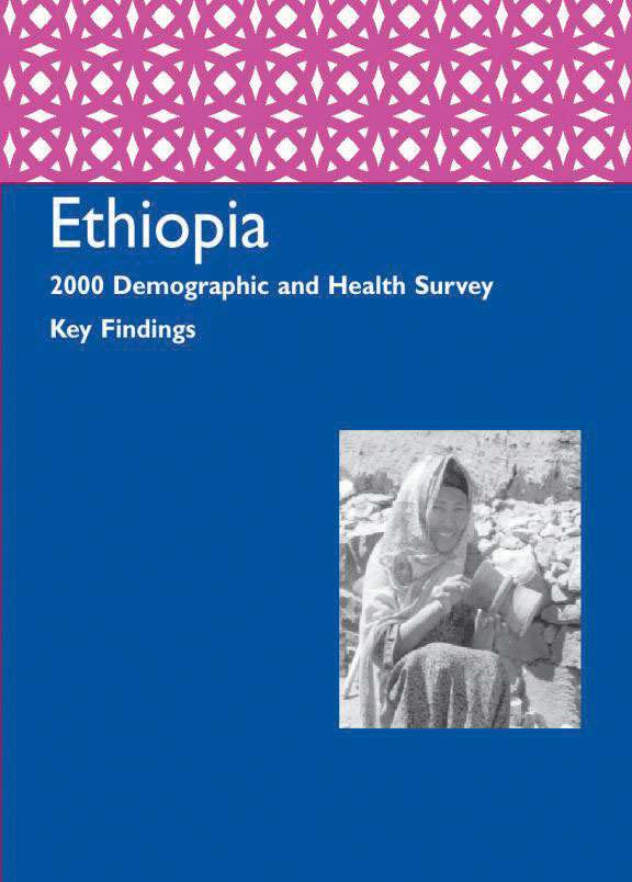 Cover of Ethiopia DHS, 2000 - Summary Report (English)