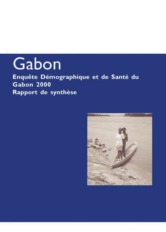 Cover of Gabon DHS, 2000 - Summary Report (French)