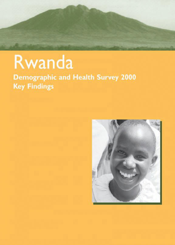 Cover of Rwanda DHS, 2000 - Summary Report (English, French)
