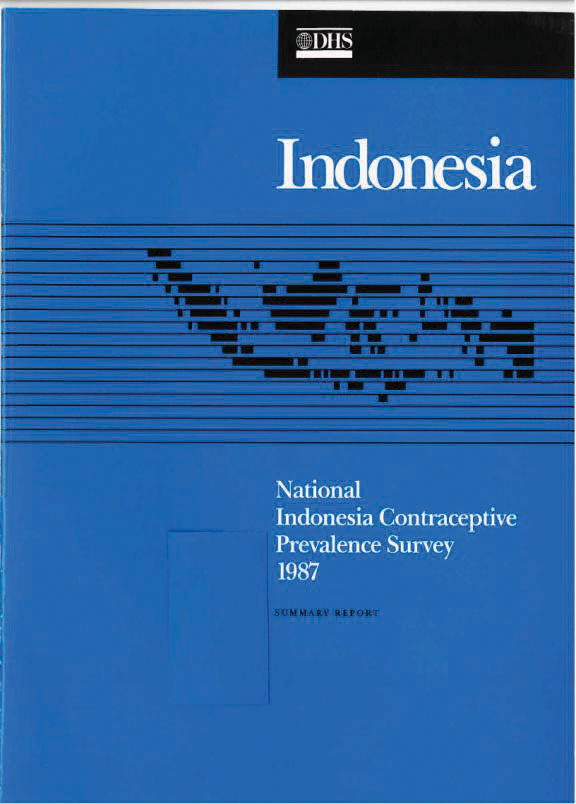 Cover of Indonesia DHS, 1987 - Summary Report (English)