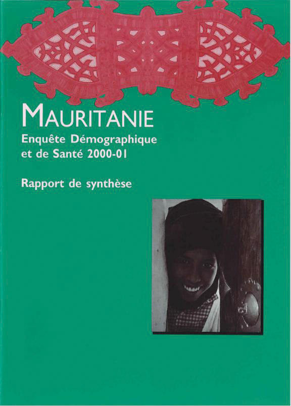 Cover of Mauritania DHS, 2000-01 - Summary Report (French)