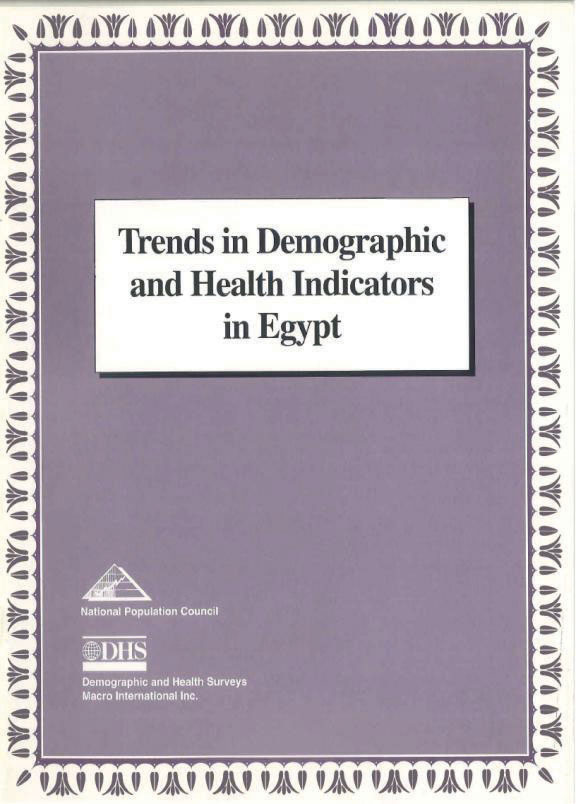 Cover of Trends in Demographic and Health Indicators in Egypt (English)