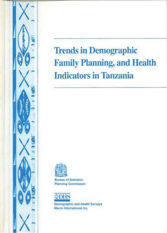 Cover of Trends in Demographic, Family Planning, and Health Indicators in Tanzania (English)
