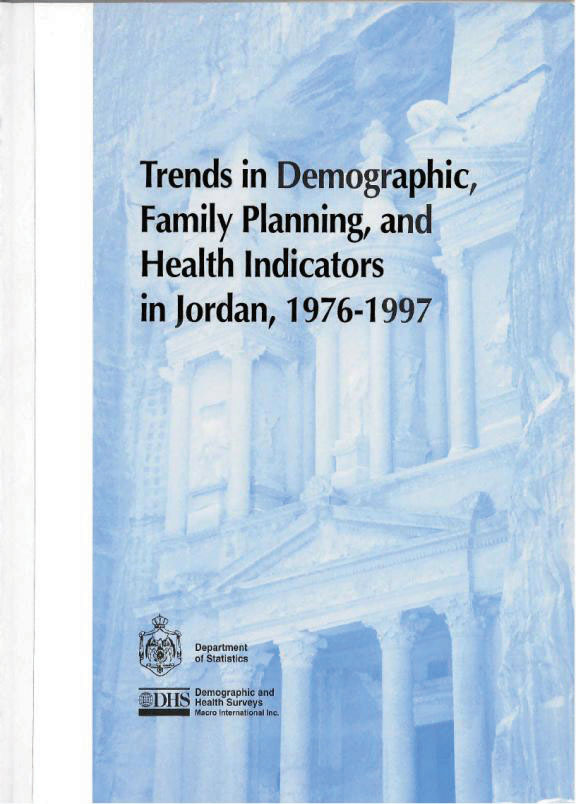 Cover of Trends in Demographic, Family Planning, and Health Indicators in Jordan 1976-1997 (English)