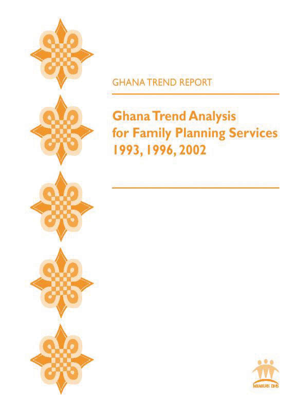 Cover of Ghana Trend Analysis for Family Planning Services 1993 - 2002 (English)