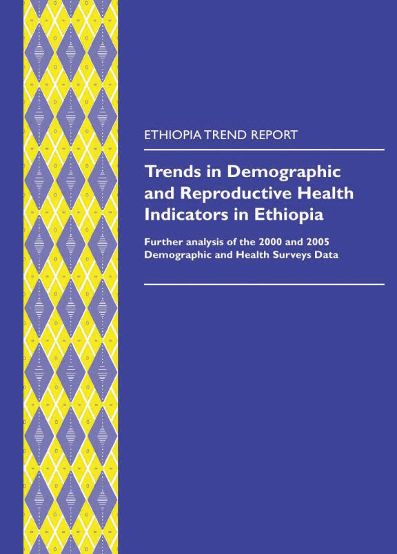 Cover of Trends in Demographic and Reproductive Health Indicators in Ethiopia (English)