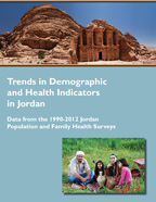 Cover of Trends in Demographic and Health Indicators in Jordan: Data from the 1990-2012 Jordan Publication and Family Health Surveys (Arabic, English)